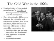 Cold War Unit 2012-2013 - Lesson 7 - Detente