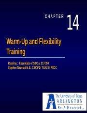 Ch. 14 Warm-Up and Flexibility Training
