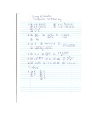 Survey of Cal Prereq Worksheet Key
