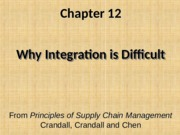 Chapter 12 Why Integration is Difficult PSCM2E