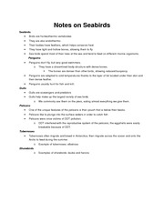 Notes on Seabirds