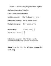 Section-2.5-Part-I---Reason-Using-Properties-of-Algebra