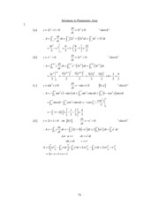 19. Solutions to Parametric Area