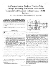 [3] A comprehensive study of np voltage balancing in 3level npc VSI