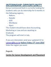 KCB-INTERNSHIP-ADVERT