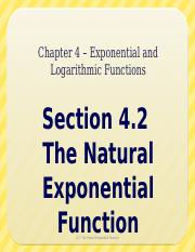 4.2 - The Natural Exponential Function