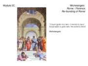 2C_Michelangelo_Rome and Florence_Re-founding of Rome