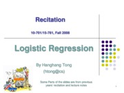 recitation4 Logistic Regression
