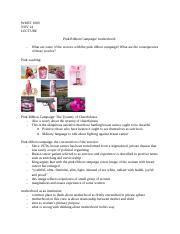 pink ribbion campaign: motherhood lecture .docx