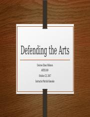 Defending the Arts.pptx
