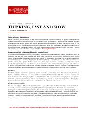 Think Fast And Slow Pdf