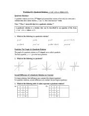 Introduction to Quadratics graphs completed