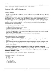 case study for dividend policy at linear technology Dividend policy at linear technology - this case presents a decision analysis by linear technology regarding its dividend policy the company first started giving out dividends in year 1992 and.