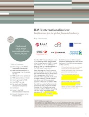 White Paper on RMB Internationalization