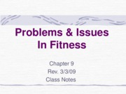 Problems & Issues in Fitness-Chap0. 9NOTES