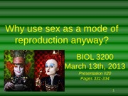 Presentation #20 - The Complexity of Sex
