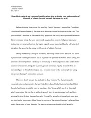 Chronicle of a Death Foretold Reflective Response Essay