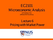 lect 6 pricing n mkt power