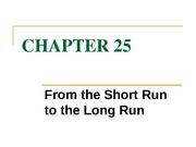 chapter 25 from the short run to the long run
