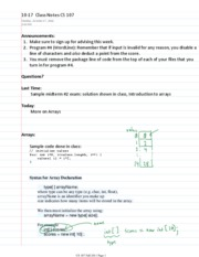 10-17  Class Notes CS 107