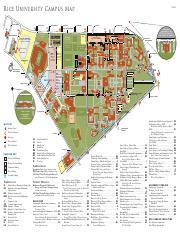 Rice University Color Campus Map Ri C E U N I V E Rsity Cam P Us