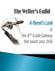 Gateway Writing PowerPoint for Parents