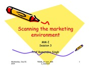 3 Scanning the marketing environment
