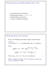 Partial derivatives and differentiability II