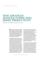 Why Advanced Manufacturing Will Boost Productivity BCG Feb 2015