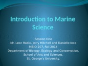 1-Introduction to Marine Science Jan 24 2013 II