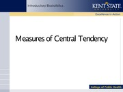 Week 2- Measures of Central Tendency