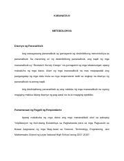 thesis kabanata 3 metodolohiya