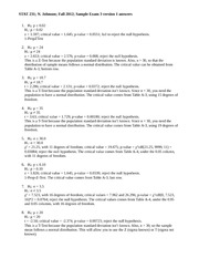 STAT 231 Fall 2012 Sample exam 3 v1 answers