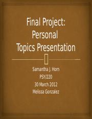 Final Project - Personal Topics Presentation.pptx