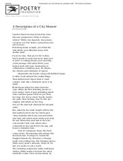 A Description of a City Shower by Jonathan Swift _ The Poetry Foundation