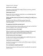 Interview Questions Business Italian