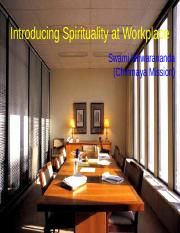 Spirituality WorkPlace - ASBM.pps