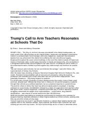 Trump's Call to Arm Teachers Resonates at Schools That Do.docx