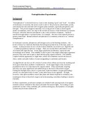 Eutrophication_Experiments