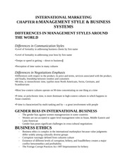 MANAGEMENT STYLE & BUSINESS SYSTEMS