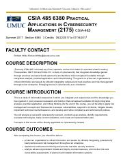 csia 301 syllabus Csia 301 lab 2 report questions implementing security controls: access controls 1 what is a security control 2 what is a countermeasure 3 explain how p.