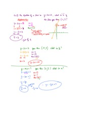 solving for M B Notes