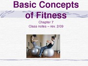 Basic Concepts of Fitness-chap. 7-NOTES
