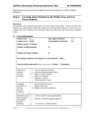 Tpa 4 Doc Caltpaculminating Teaching Experience Task Id 00000000 Before Beginning This Task Read The Complete Directions Provided In The Caltpa Course Hero