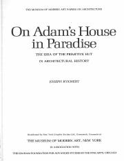 Week 2_Origin Myths_On Adams House in Paradise-Ch1-Thinking and Doing
