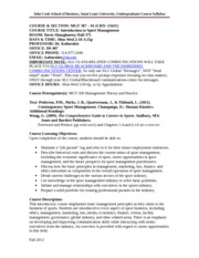 MGT 307 Intro to SportBiz Syllabus Fall 2013 -- 8-26-13 Update