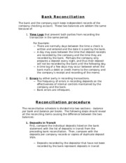 Chapter 7 Hand Out-Bank Reconciliation