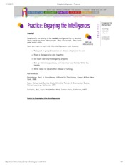 Multiple Intelligences -- social