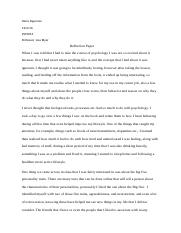 reflection paper psy