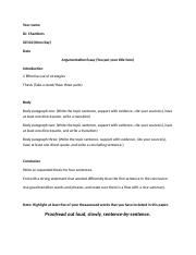 Argumentative Essay Guidelines and Rubric (2)